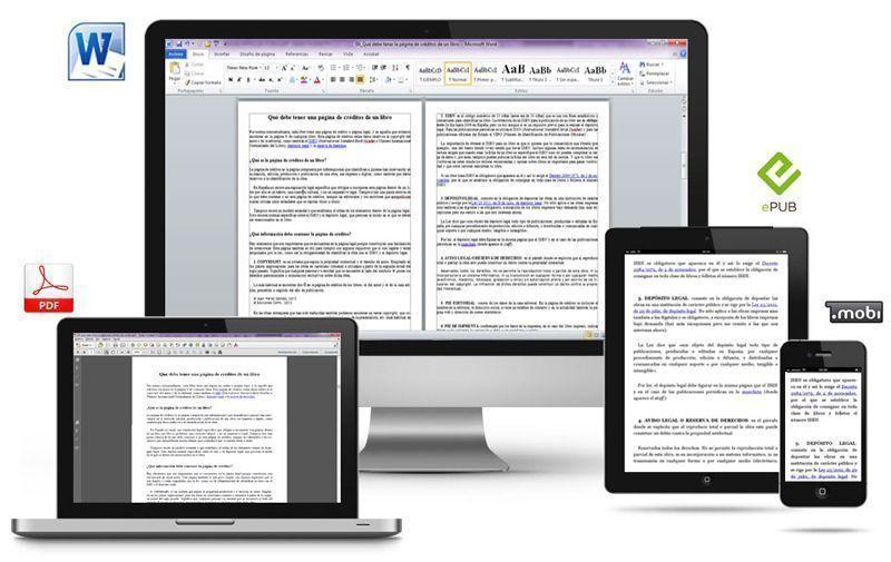 Cómo trasformar un archivo DOC en MOBI, EPUB y PDF para distribuirlo a través de Internet