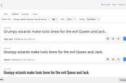 Tipografías gratuitas para libros, páginas web y blogs: Google Fonts