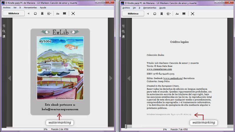 DRM social o blando: ejemplo SeeBook