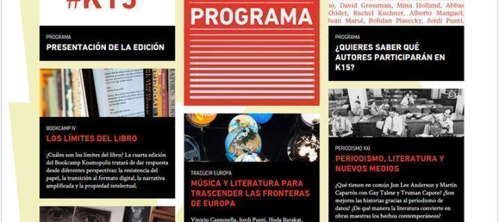 Nueva edición de Kosmopolis y Bookcamp