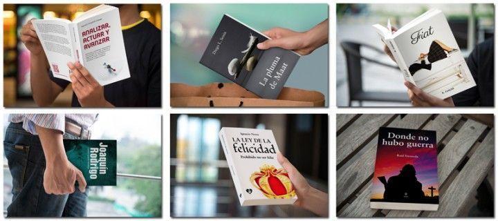 Mockups de libros para promocionarlos con elegancia