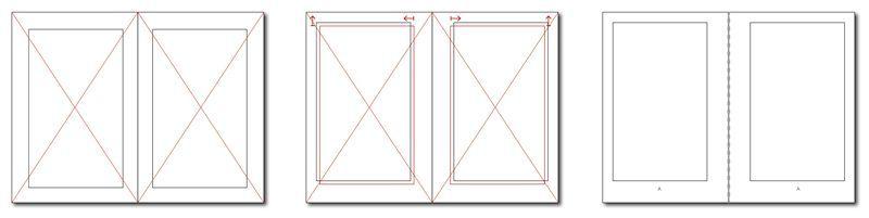 Retícula con proporciones consistentes de formato y caja de texto