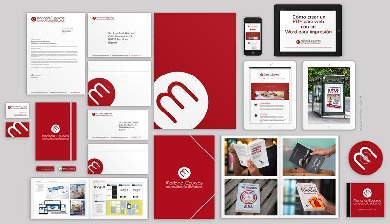 Ejemplo de piezas gráficas para crear marca y potenciar el trabajo de un profesional