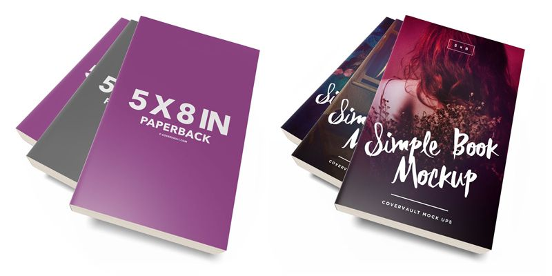 Mockups-gratuitos-de-libros_Messy-5-x-8-Paperback-Book-Stack-Template