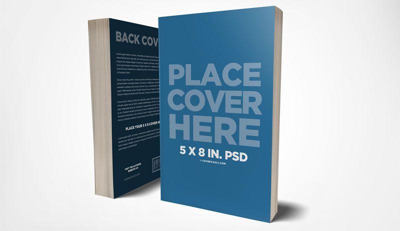 Front Back Paperback Book Mockup Covervault