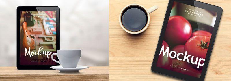 iPad con café