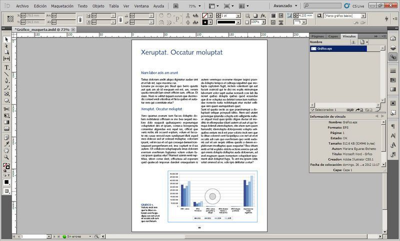 Trabajar con gráficos en InDesign I: cómo transformar gráficos de Excel en archivos importables a InDesign
