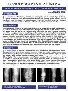 Ejemplo de póster científico maquetado en PowerPoint