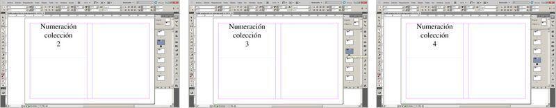 Doble numeración o paginación Indesign 2a