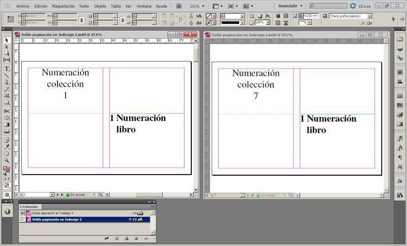 Cómo hacer una doble numeración en InDesign