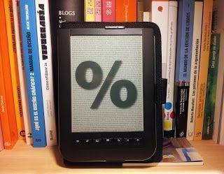 Reparto de porcentajes en la edición digital