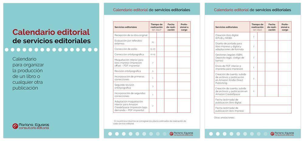 Calendario editorial de servicios editoriales (en PDF)