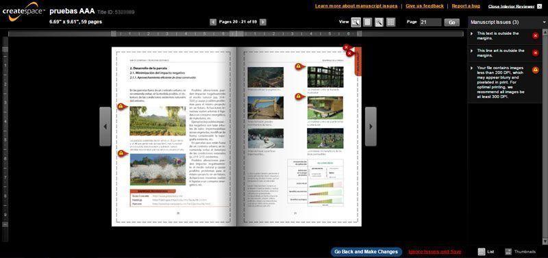 Publicar con CreateSpace: autopublicación de libro impreso - Interior Reviewer