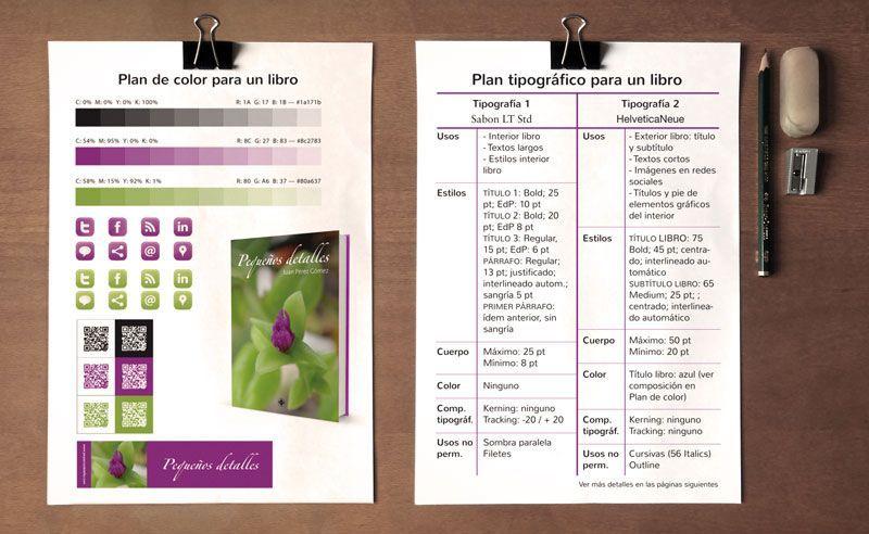 Plan tipográfico y de color para publicar un libro