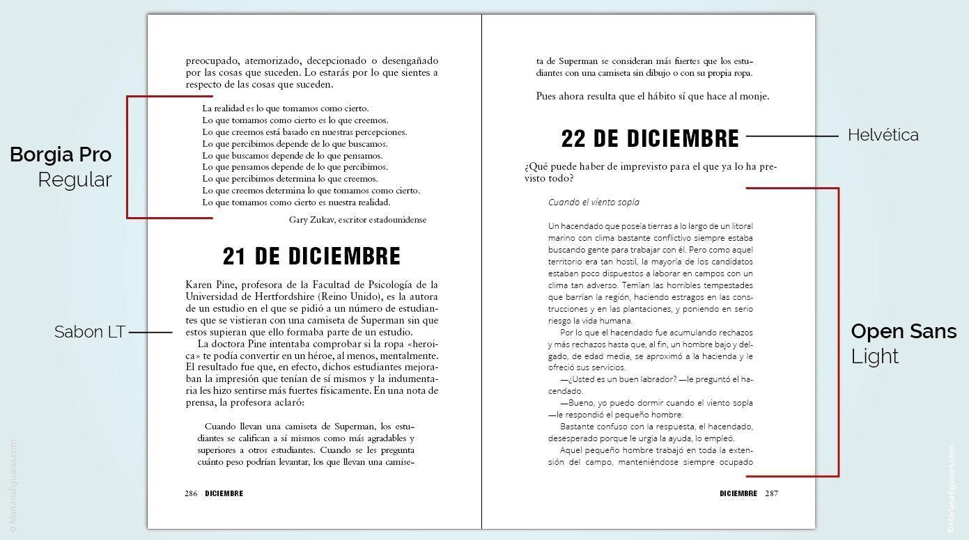 Tipografias gratuitas para libros, páginas web y blogs en Font Squirrel - Ejemplo