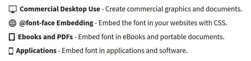 Tipografias gratuitas para libros, paginas web y blogs en FontSquirrel - Licencias