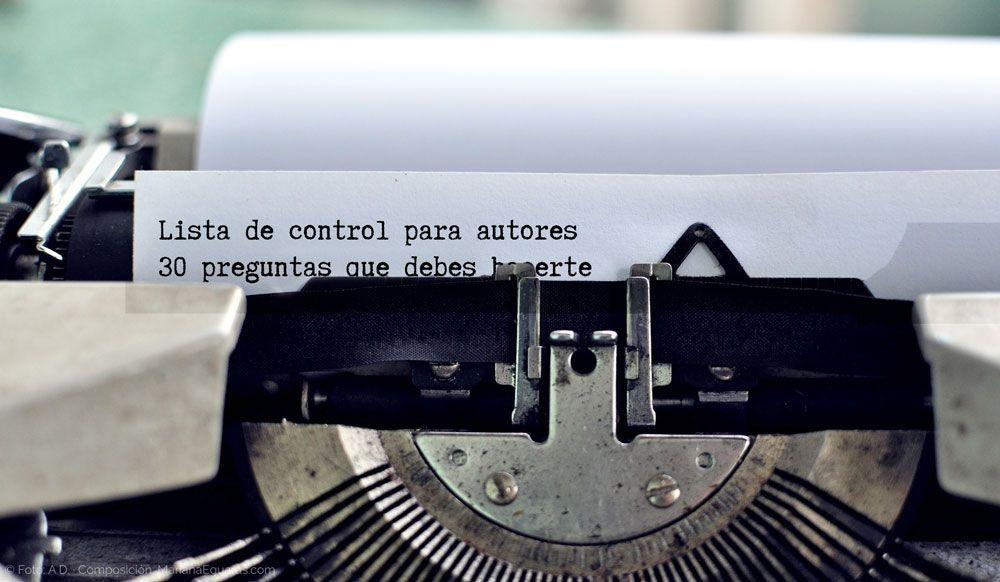 Lista de control para autores, de Writers Write