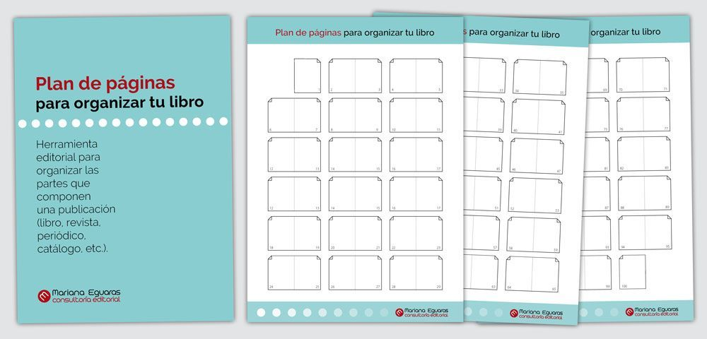 Plan de páginas, alzado o lanzado para publicaciones