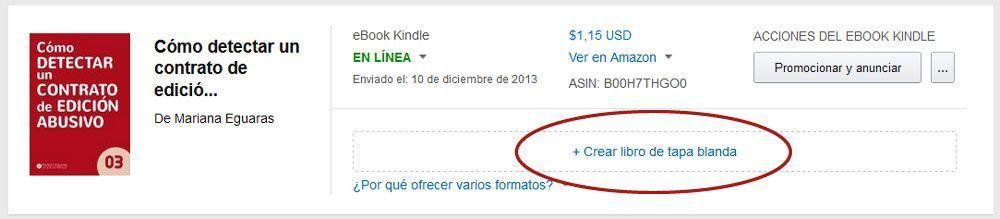 Cómo publicar un libro de tapa blanda con KDP de Amazon - Crear libro tapa blanda