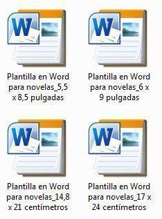 Cuatro plantillas en Word para componer novelas