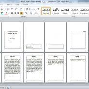 Plantillas en Word para componer novelas