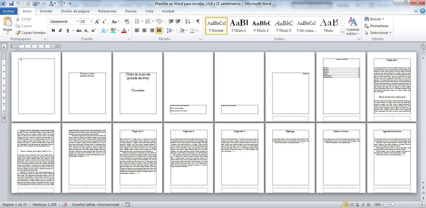 hojas de presentacion creativas en word