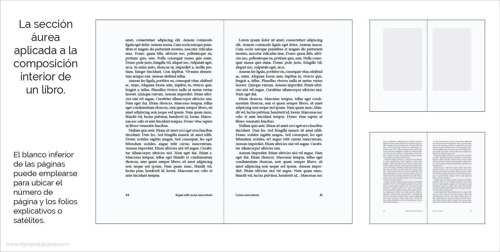 La sección áurea en la composición y maquetación de libros - Ejemplo de aplicación del canon de Van de Graaf