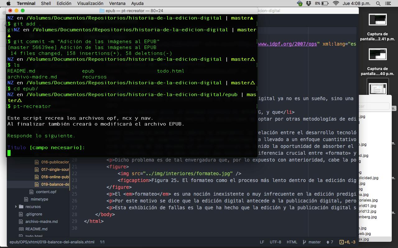 Cómo generar cuatro formatos de un contenido en un día - Creación del EPUB, 16:08 h