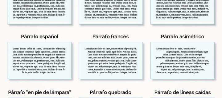 Distintos tipos de párrafo y en qué clase de textos usarlos