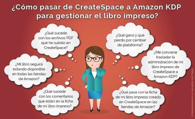 Cómo trasladar un libro impreso de CreateSpace a Amazon KDP ...