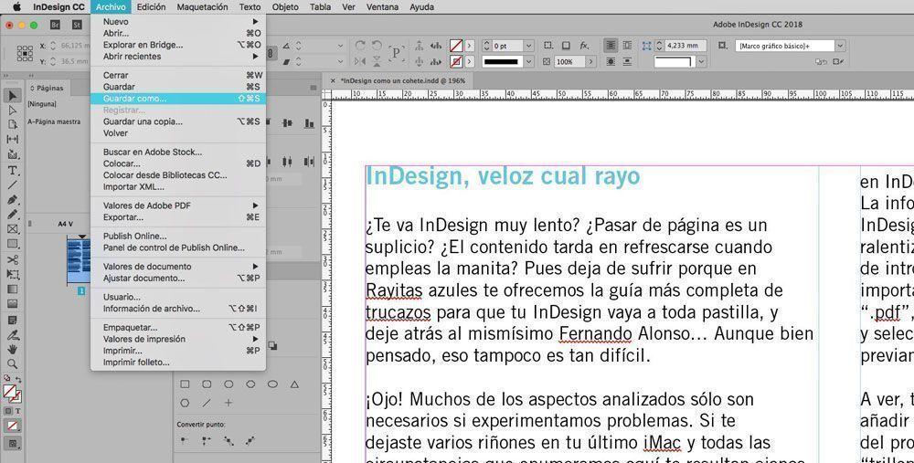 Trucos de Indesign, del blog Rayitas Azules.