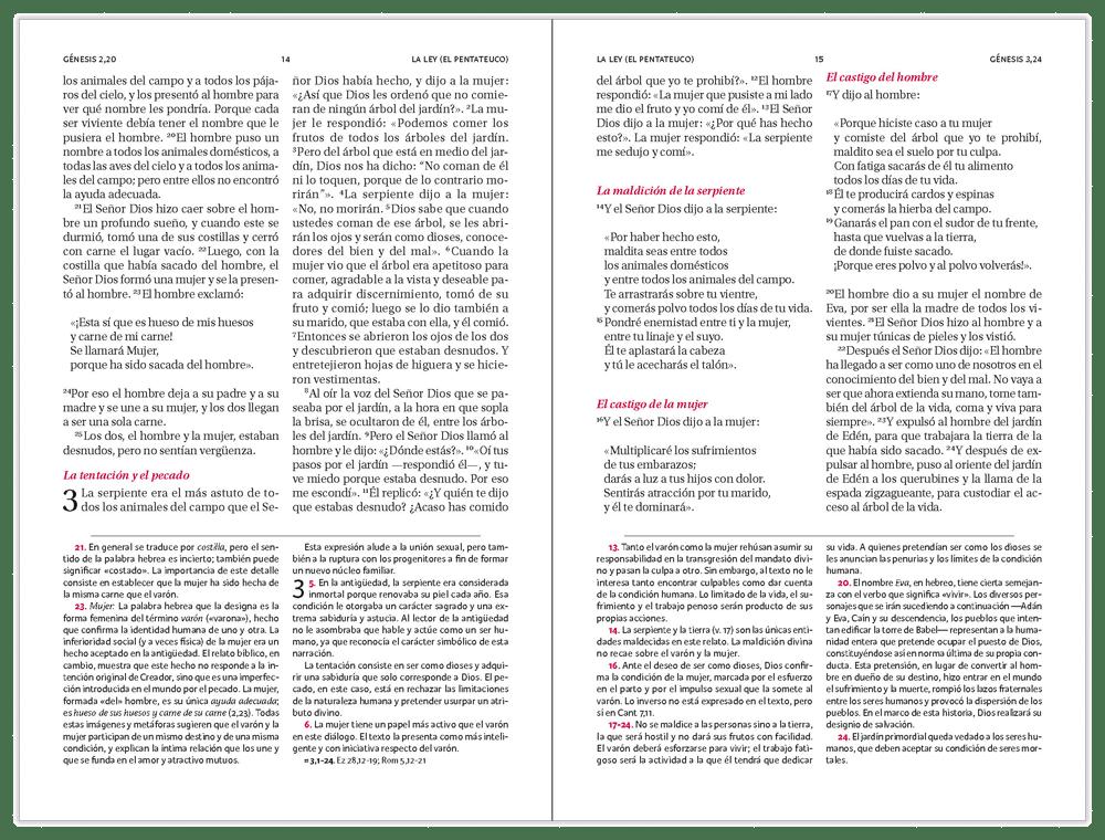 La Biblia - Libro del Pueblo de Dios, editorial Verbo Divino.