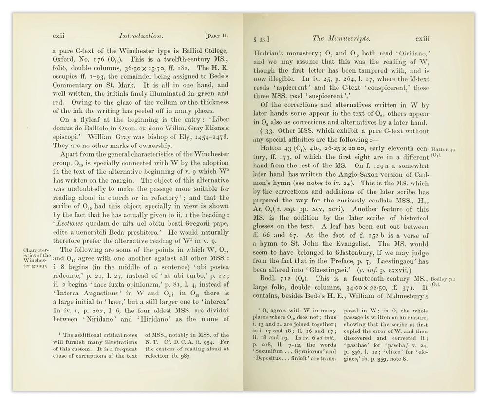 Venerabilis Baedae Opera Historica, de Beda Venerabilis, editado por Charles Plummer.