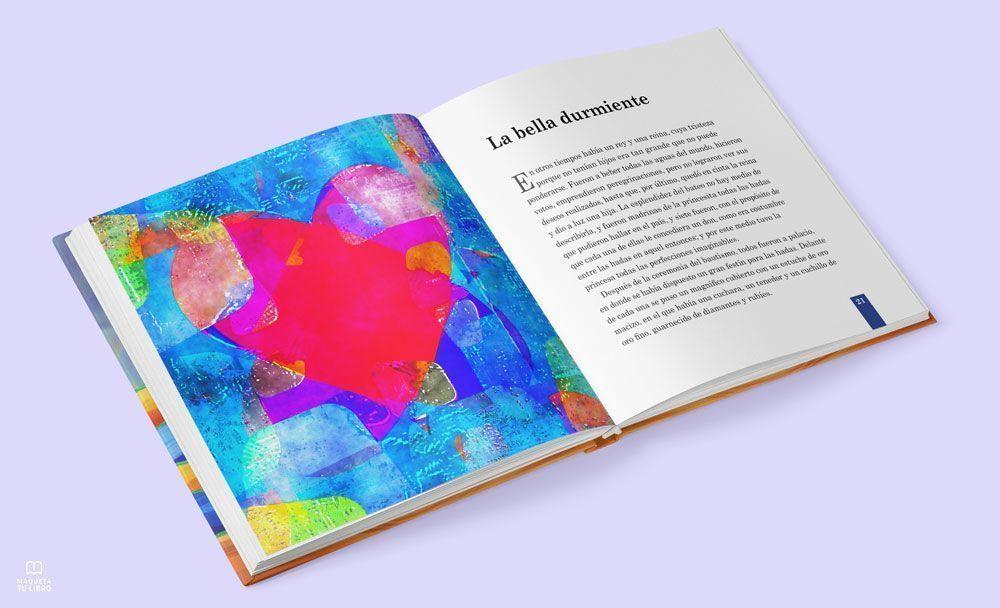 """Plantilla prediseñada para libro infantil """"Heidi"""", de Maquetatulibro.com"""