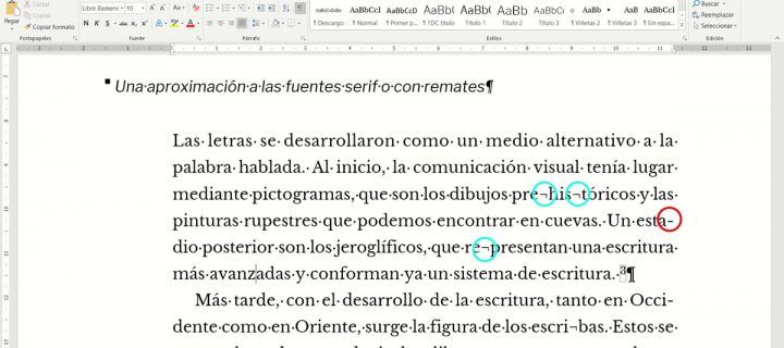 Cómo usar el guion opcional de separación de palabras en Word