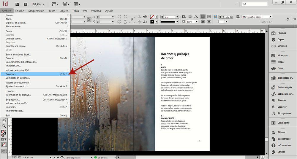 Cómo exportar un PDF en escala de grises desde un archivo a todo color - Exportar