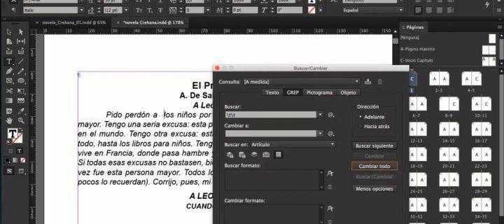 Cursos para aprender a maquetar libros con Adobe InDesign