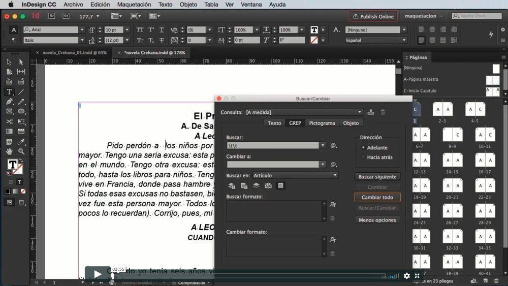 Adobe InDesign: diseña y diagrama desde cero