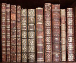 Ornamentación en el lomo de los libros (florones)