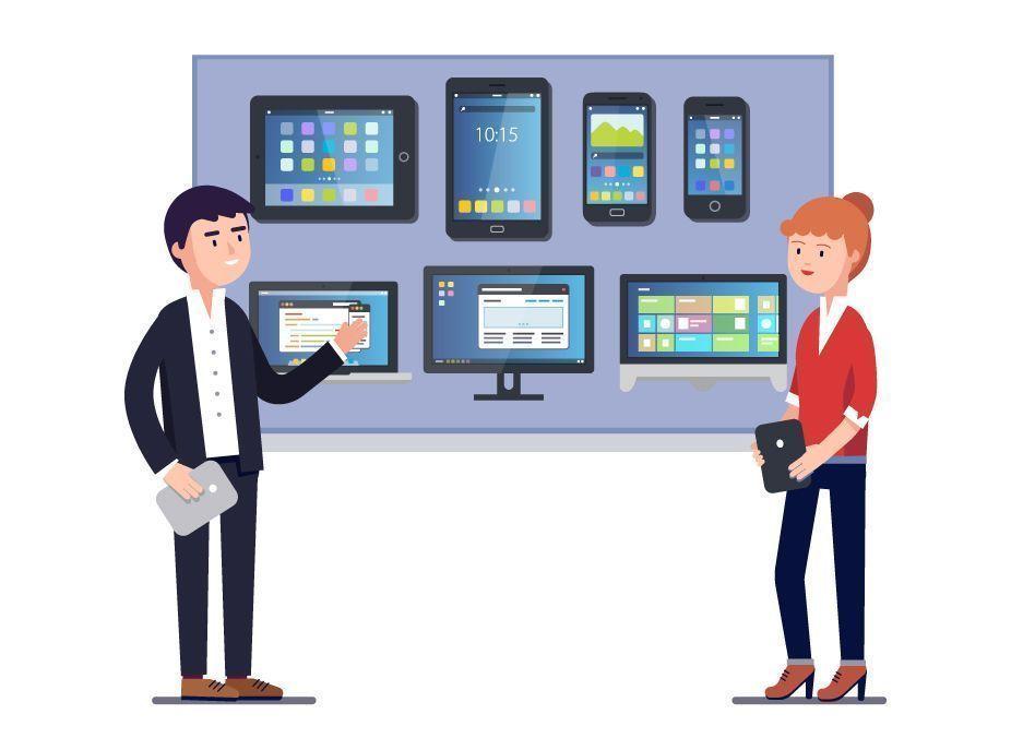 Presentación de diferentes pantallas para publicar de forma digital