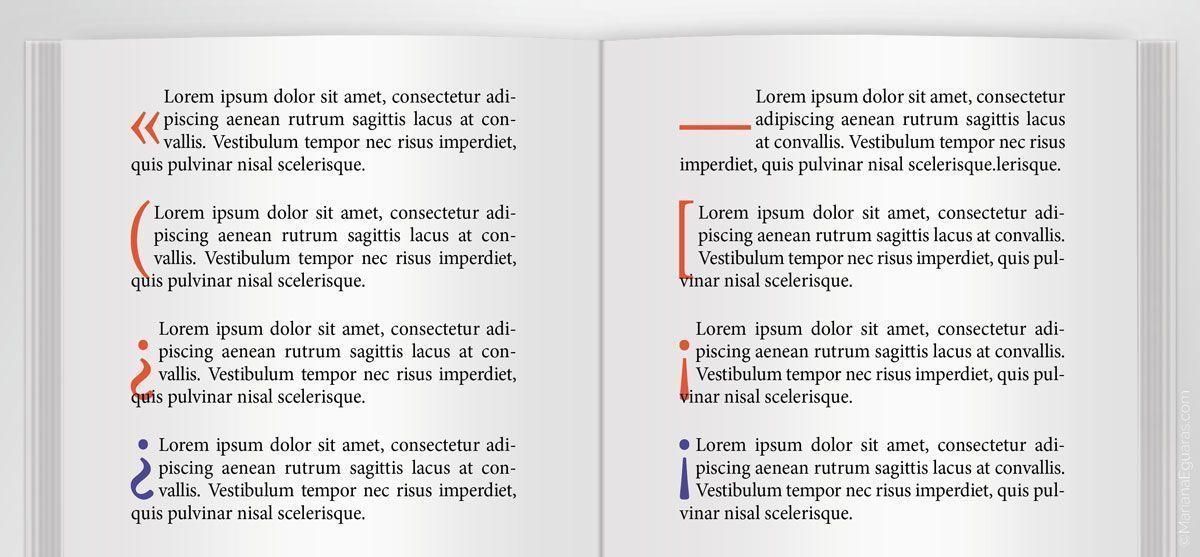 Ejemplos de problemáticas con signos como capitulares