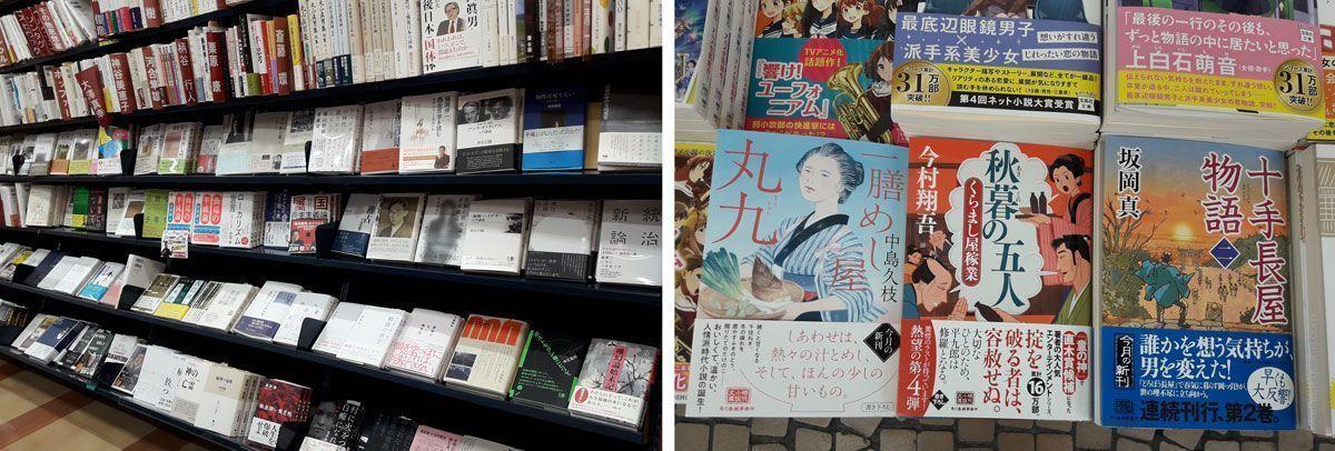 Libros en la librería Bunkyodo, en Hamamatsucho, Tokio, Japón.