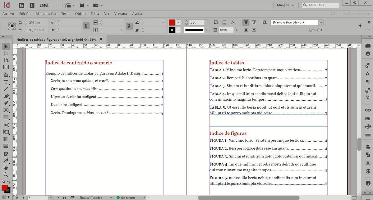 Cómo crear varios índices de tablas y figuras en InDesign - Colocar los índices en el libro