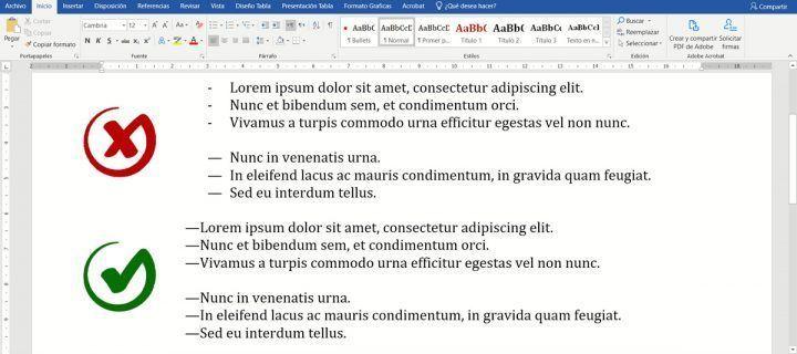 Cómo convertir los guiones en viñeta en rayas de diálogo en un clic