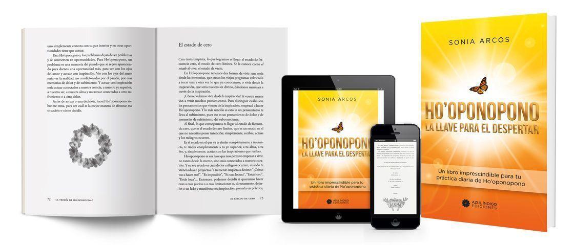 """""""Ho'oponopono - La llave del despertar"""", de Sonia Arcos, diseñado y compuesto por Mariana Eguaras - Consultoría editorial"""