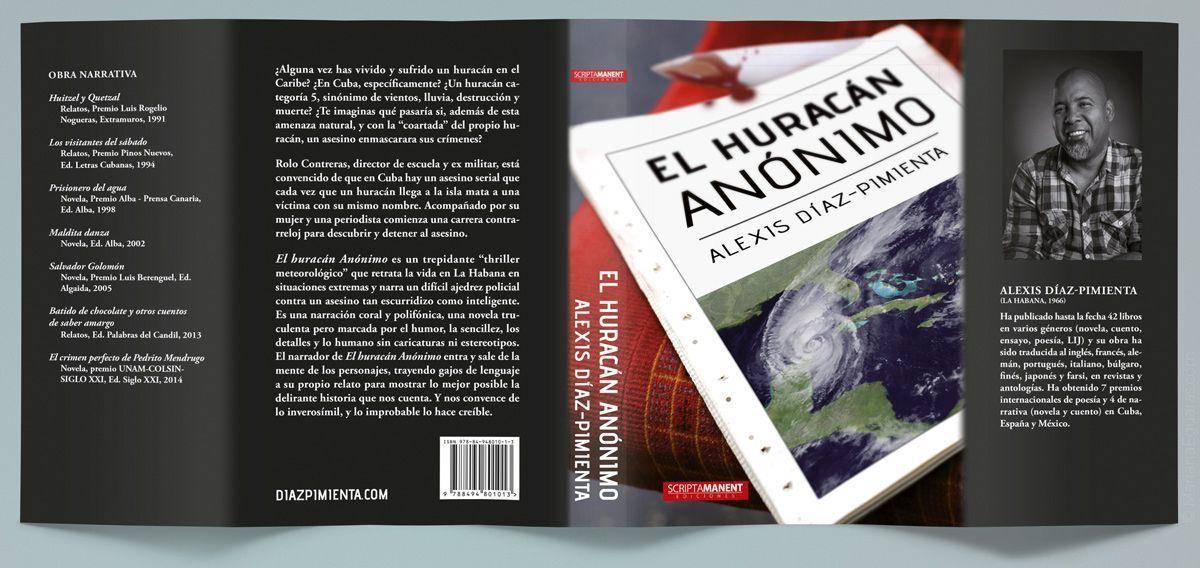 """Parte exterior de """"El huracán anónimo"""", de Alexis Díz-Pimienta"""
