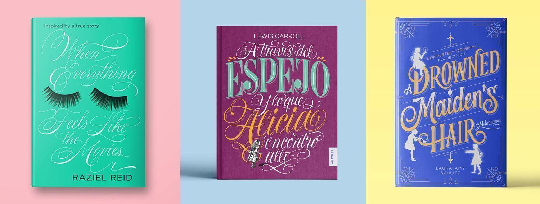 Cubiertas ilustradas con lettering de Martina Flor