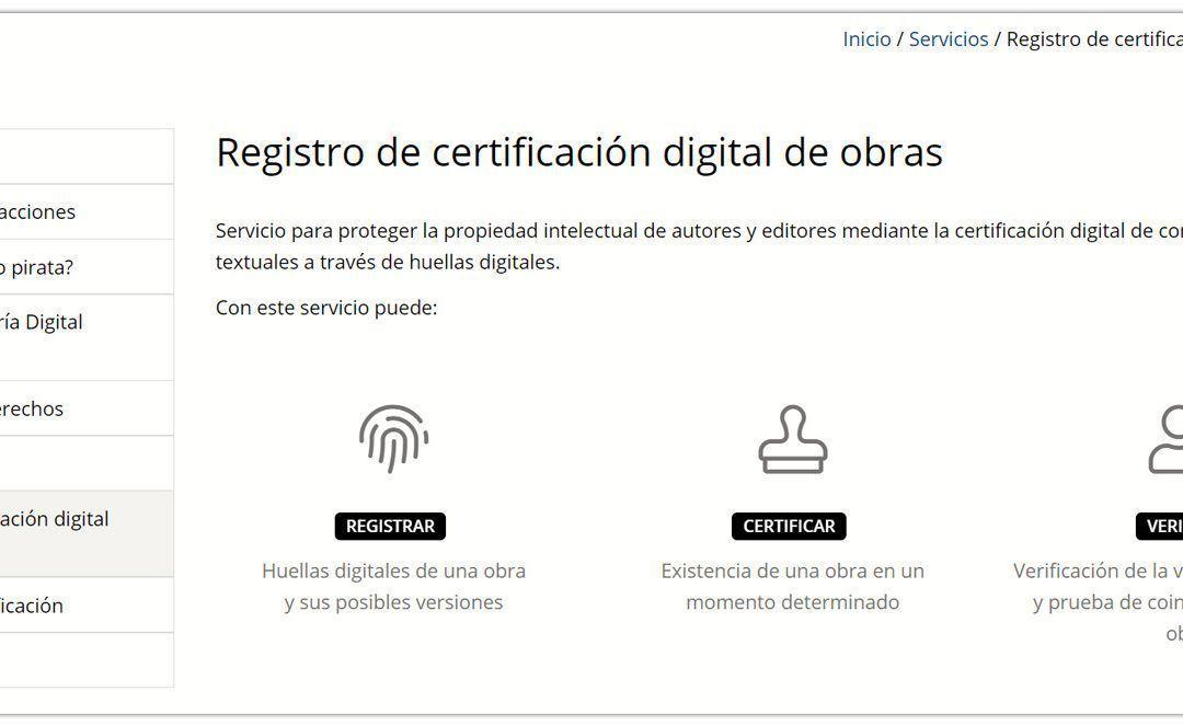 Qué es y para qué sirve el registro de certificación digital de obras de CEDRO